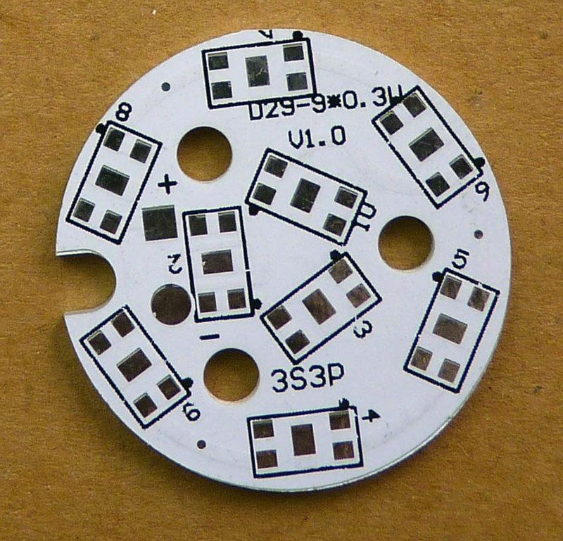 DIY LED套件鋁基板 5630 9LED  D29x1.5 mm No41