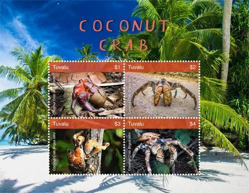 吐瓦魯 2018  椰子蟹 寄居蟹的一種 小全張1全 325元