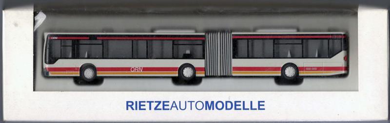 1:87 Rietze 62804 Omnibusverkehr Rhein-Nahe GmbH (ORN) 雙節公車
