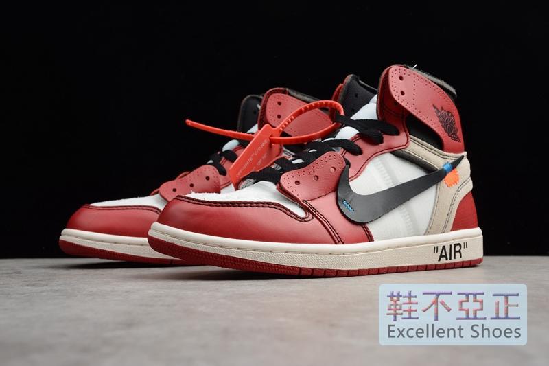 new style a4d13 31b4a OFF-WHITE x Air Jordan 1 Retro High OG 10X 黑白紅AA3834-101