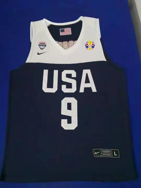 麥可·喬丹(Michael Jordan) NBA世界盃美國夢幻隊 9號 球衣 深藍色