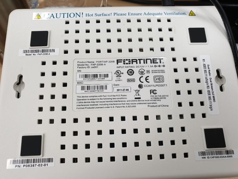 Fortigate Fortinet Fortiap FAP-220B wifi分享器 AP