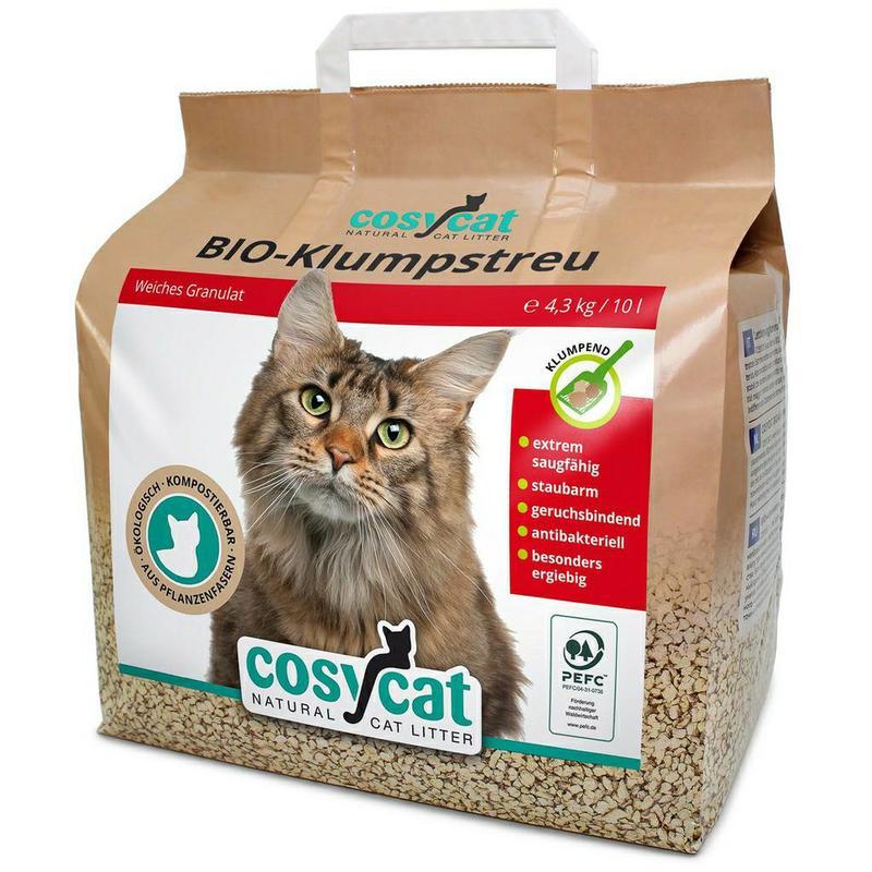 德國 渴璽 Cosycat 有機凝結木屑砂 貓砂 10L/包 環保貓砂