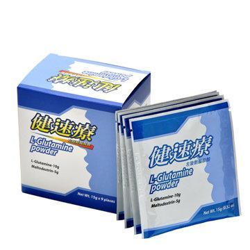 【藥妝熱賣挑戰低價】《健速療》麩醯胺酸L-Glutamine病後補養組(15公克X9包)