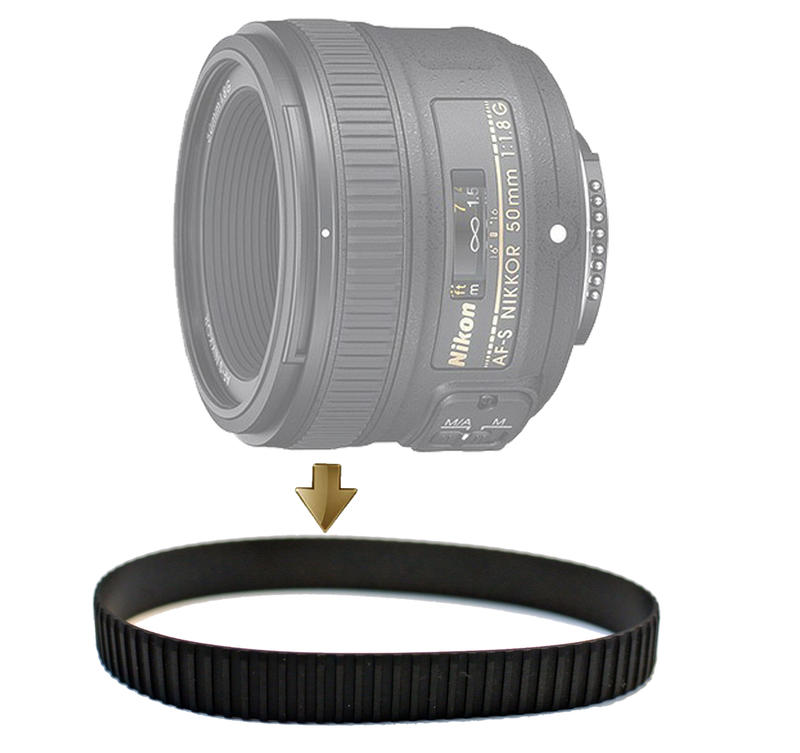 Focus Rubber Ring for Nikon 50mm F1.8G 對焦環 對焦皮