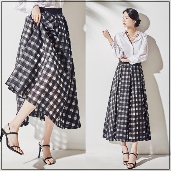 韓國妹 【cb41143】 ❤ (氣質感超棒的!)亞麻夏日美麗女子長裙❤ 2色S-2XL