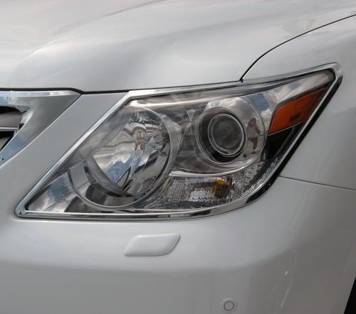 圓夢工廠 Lexus LX570 J200 2008~2012 改裝 鍍鉻銀 車燈框飾貼 前燈框 頭燈框