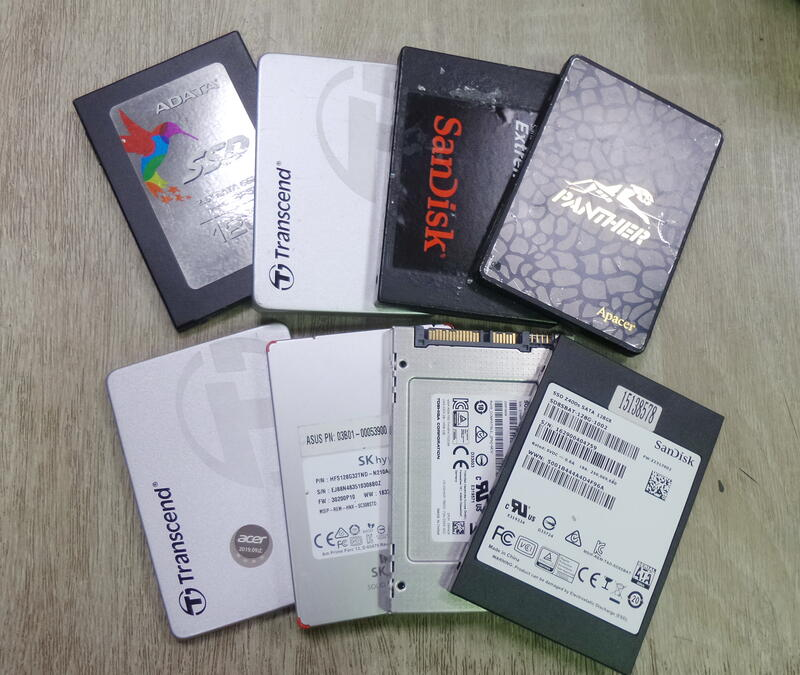 各廠牌 2.5吋 SSD 120GB / 128GB 固態硬碟