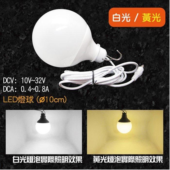 【電池達人】超亮 12V直流 LED 12W 燈球 燈具 燈管 高亮度 超耐用 登山 夜遊 夜間 戶外 露營 照明燈