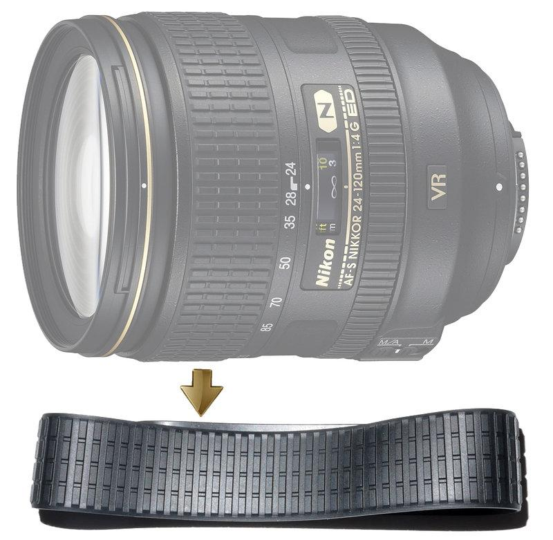 Zoom Rubber Ring for Nikon 24-120mm F4G VR 變焦環