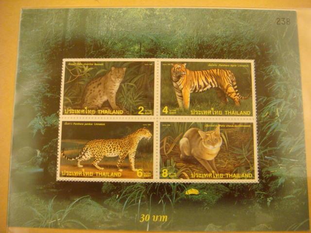 泰國貓種動物紀念郵票小全張---新票如圖示 / 物超所值!