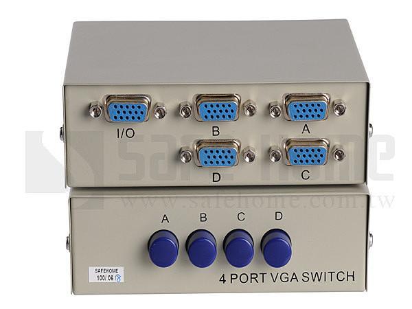 ~Safehome~ 全新盒裝手動  VGA Switch 4對1 / 4進1出,螢幕切換器/交換器!VGA Switch SVW104-150
