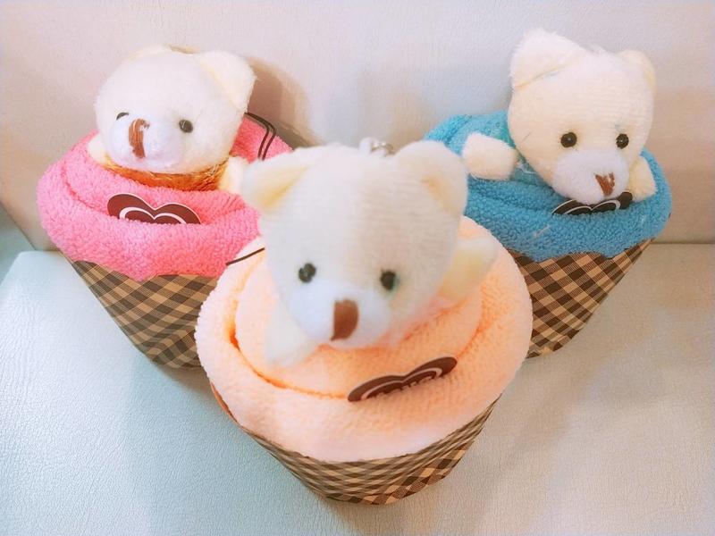 小熊杯子方巾