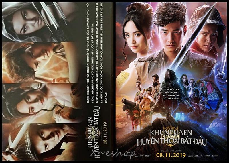 泰國電影-龔席立[坤潘傳奇]阿南達-越南電影宣傳小海報2019