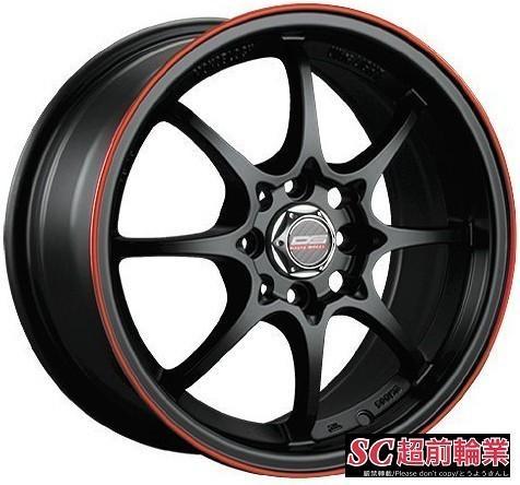 【超前輪業】全新鋁圈 類RAYS CE28 DG A17 16吋鋁圈 4孔100 4孔114 .3 黑底紅邊