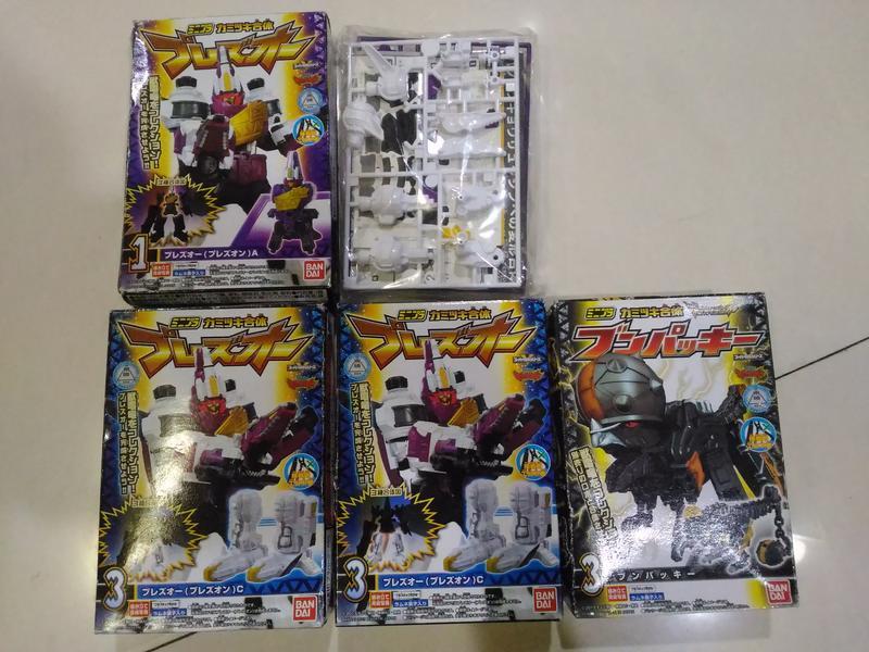 日版盒玩 獸電戰隊 箭頸龍+搥頭龍 共5盒