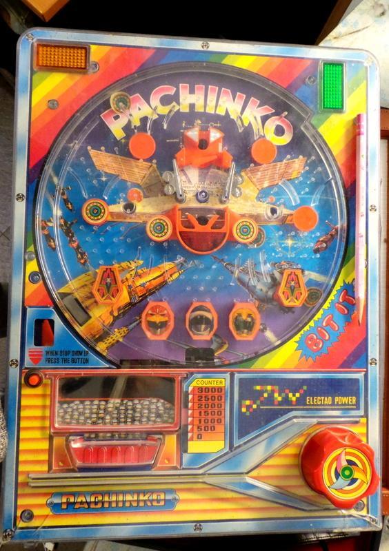 早期 玩具 彈珠台 柏青哥 ~~無法過電~缺電池蓋
