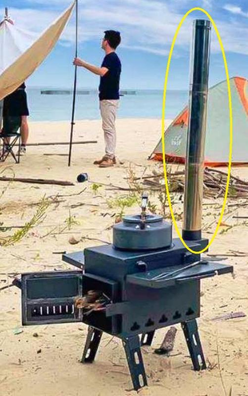 柴火爐煙囪 火箭爐煙囪 木柴爐煙囪 育空爐 燒烤爐 取暖爐 材爐煙囪