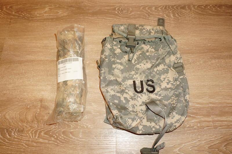 美軍公發全新 US ARMY ACU 數位迷彩副包雜物包(含公發背帶)