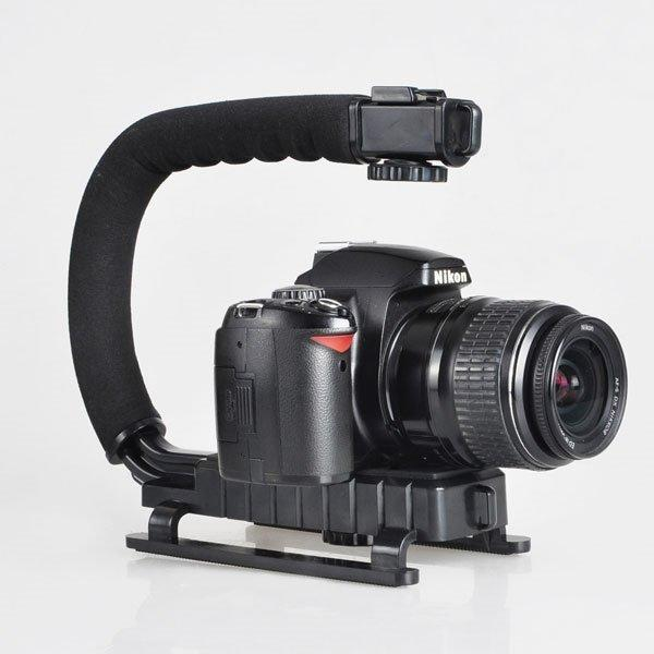 全新款 閃光燈支架 U型 支架 單眼 數位 相機 DV 手持拍攝架 C型架 閃光燈 電池把手