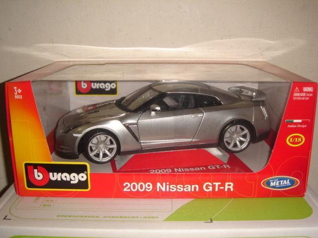 風火輪1/18多美bburago合金車1:18東瀛戰神2009 Nissan GT-R R35日產跑車特價九佰零一元起標