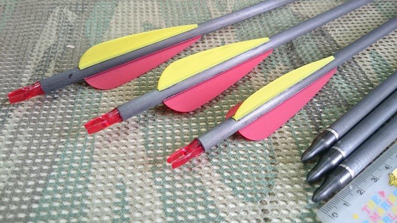 (新)複合弓三點式鬃毛/羚角/鋼片箭座專用箭*弓箭、射箭用品*