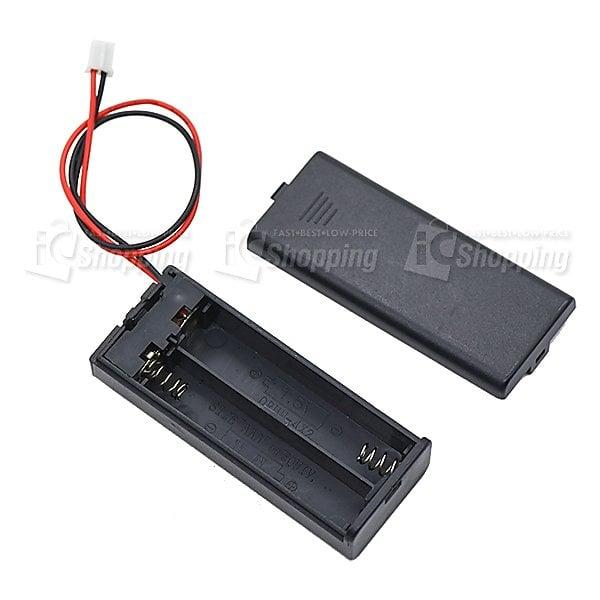 《iCshop1》4號2節電池盒 帶開關、端子 (micro:bit專用)●368090500130●3V電池座
