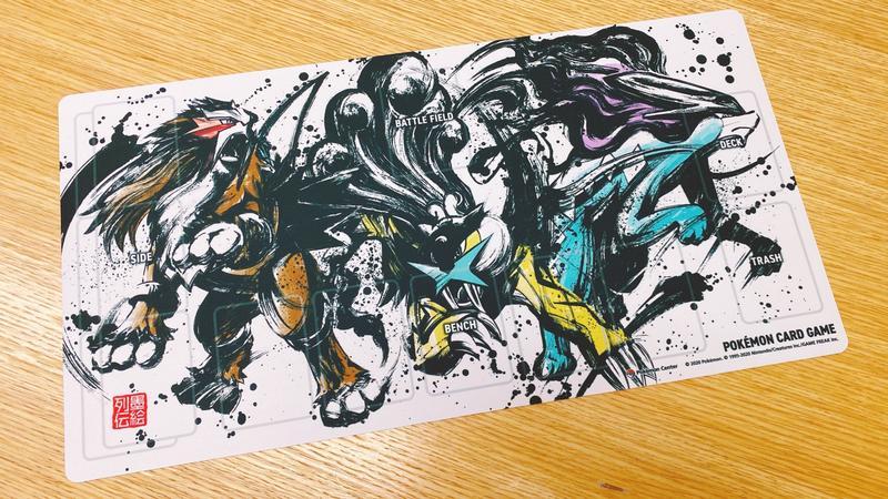 *超威*神奇寶貝中心 2020年 墨繪系列 雷公 炎帝 水君 卡片遊戲墊 卡墊 全新品 現貨