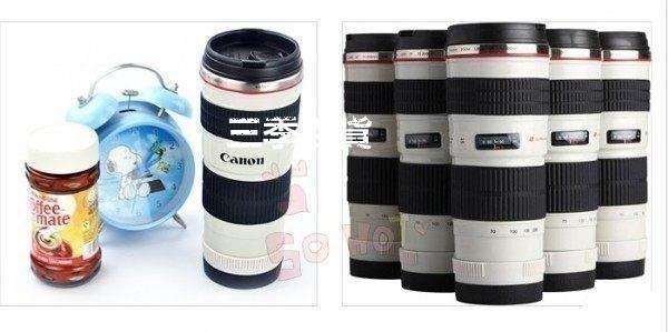 創意鏡頭杯 佳能canon EF 70-200mm 4L 小小白 鏡頭杯子 小白鏡頭 咖啡杯 不鏽鋼保溫杯❖721