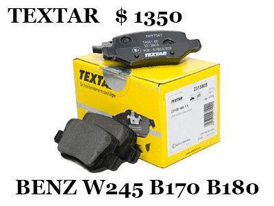 BENZ 賓士 W245 B170 B180 B200 剎車 來令片 零件圖 煞車 碟盤 德國 TEXTAR OZ