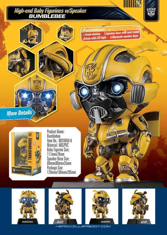 【賴皮安弟】現貨+預購 killerbody 變形金剛:大黃蜂 聲光藍芽音箱KB20069-6(大黃蜂)