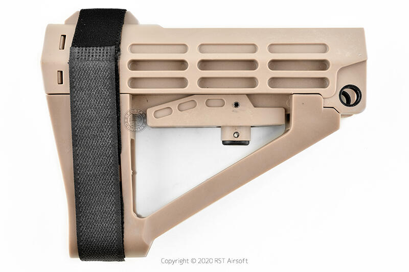 RST 紅星 - SBA4 M4/AR15 板手後托 戰術槍托 FOR GBB/AEG 黑色 ... 17663