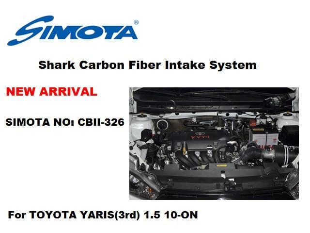 【上宸】CBII-326 TOYOTA VIOS 1.5 SIMOTA 超導流 2代 碳纖維 冷空氣 進氣套件 香菇頭