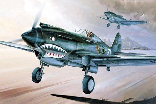 飛機14-FA12280 1/48 P-40C TOMAHAWK/付中華民國貼紙