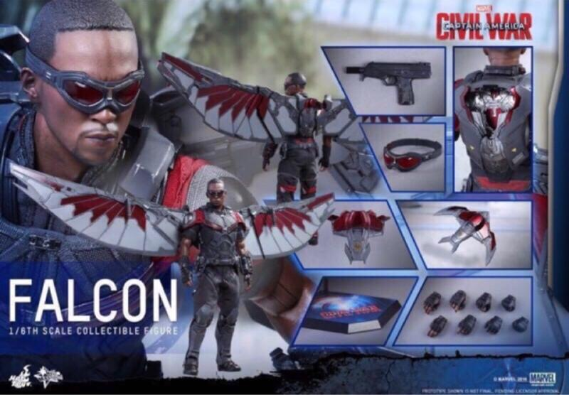全新未拆 Hot toys mms361 獵鷹 美國隊長 英雄內戰 復仇者聯盟 野獸國 非鋼鐵人 雷神索爾 蜘蛛人