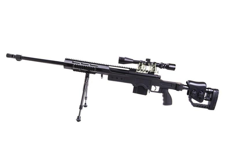 WELL 4411 狙擊槍 手拉 空氣槍 (BB槍BB彈玩具槍長槍模型槍步槍卡賓槍馬槍瞄準鏡狙擊鏡腳架