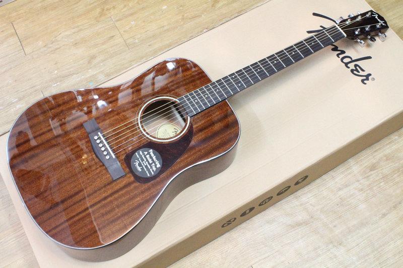 【名曲堂樂器】免運 美國大廠 Fender CD-140S 面單板 全桃花心木 民謠吉他/木吉他 代理商公司貨