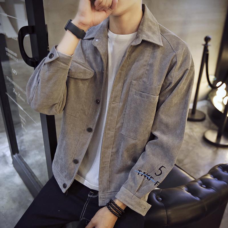 『年終免運』男士外套秋季新款韓版潮流寬松薄款夾克帥氣百搭修身學生衣服