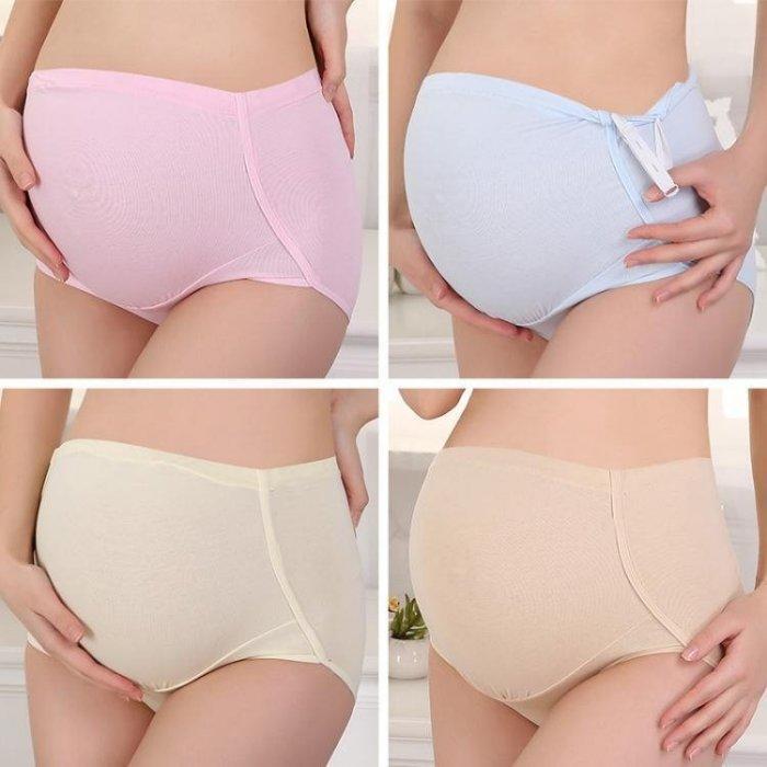 孕婦內褲_4條孕婦內褲女高腰襠懷孕期不抗菌內衣大碼透氣可調節短褲頭