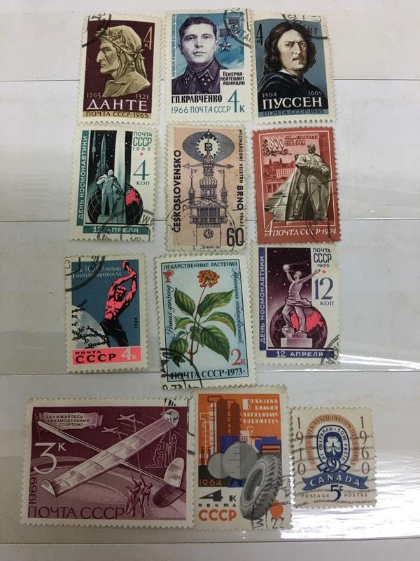 S96⋯⋯外國郵票,舊票,12枚合拍!