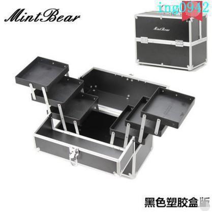 老款清倉!MintBear專業化妝箱 多層折疊美甲箱 手提紋繡工具箱