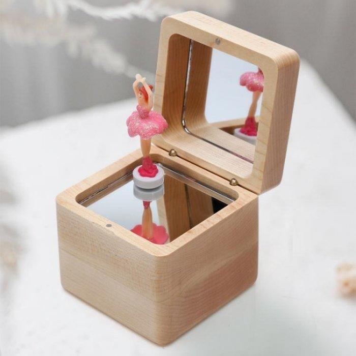 音樂盒_木質旋轉芭蕾女孩跳舞音樂盒八音盒天空之城兒童創意生日交換禮物女生