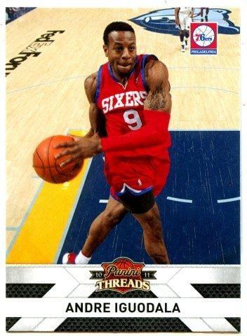 (L) NBA-10-11-Panini Threads  #62 費城76人隊 明星扣將 Andre Iguodala 精美球員卡一張