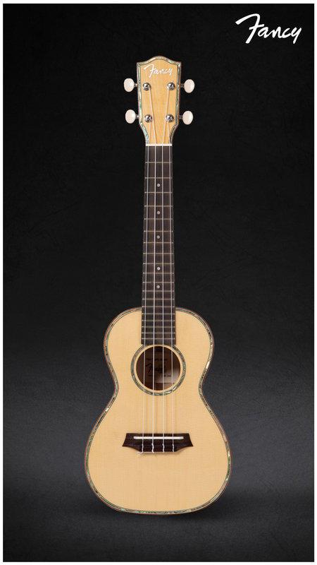 《小山烏克麗麗》Fancy 優質烏克麗麗 CW-200 23吋 全單雲杉、楓木