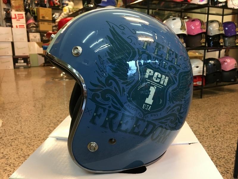 【超取免運+另贈防水帽袋】PENGUIN 海鳥 PN-786 內襯可拆 半罩 3/4罩 復古帽 安全帽 外銷款- 藍