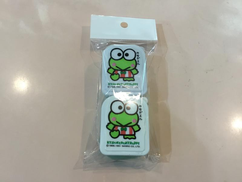 瑪奇格 日本原裝進口 KR 大眼蛙 絶版置物小盒2入組(1991)5x4x3cm