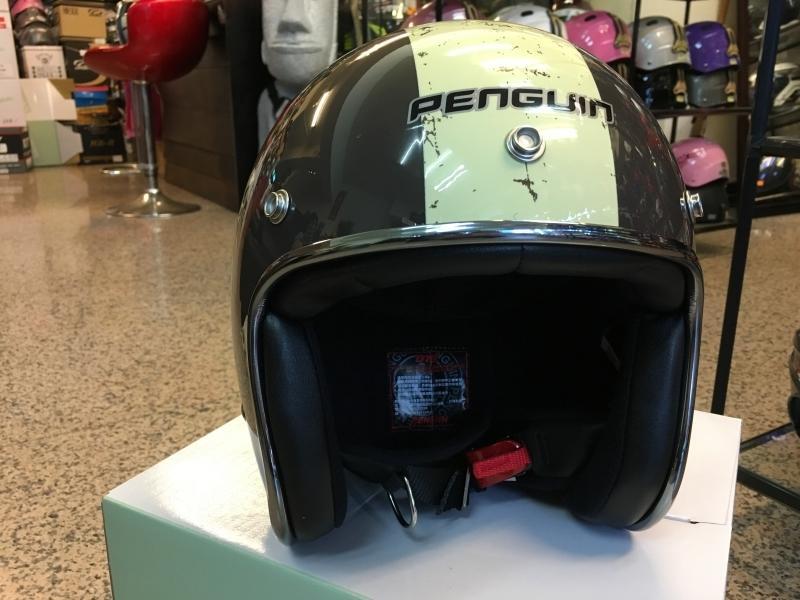 【超取免運+另贈防水帽袋】PENGUIN 海鳥 PN-786 內襯可拆 半罩 3/4罩 復古帽 安全帽- 骷顱頭
