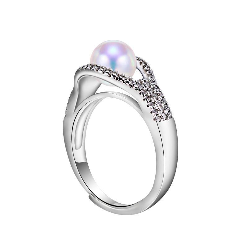 黛夢莉珍珠 天然淡水珍珠戒指 佳人款珍珠戒指 氣質女神款