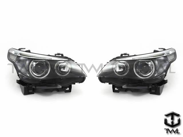《※台灣之光※》全新BMW E61 E60 04 05 06年大五原廠型HID專用黑底光圈魚眼投射大燈頭燈白色反光片