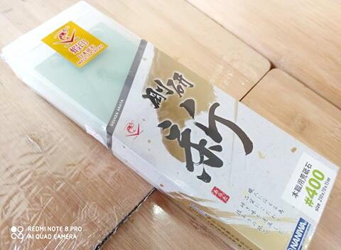 免運費正原廠公司貨日本製蝦牌NANIWA 蝦印#400荒砥石剛研最新系列SS系列最高級砥石(超セラ) 陶瓷砥石  日本